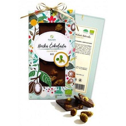 BIO Hořká čokoláda Naturalis s moruší bílou 80g