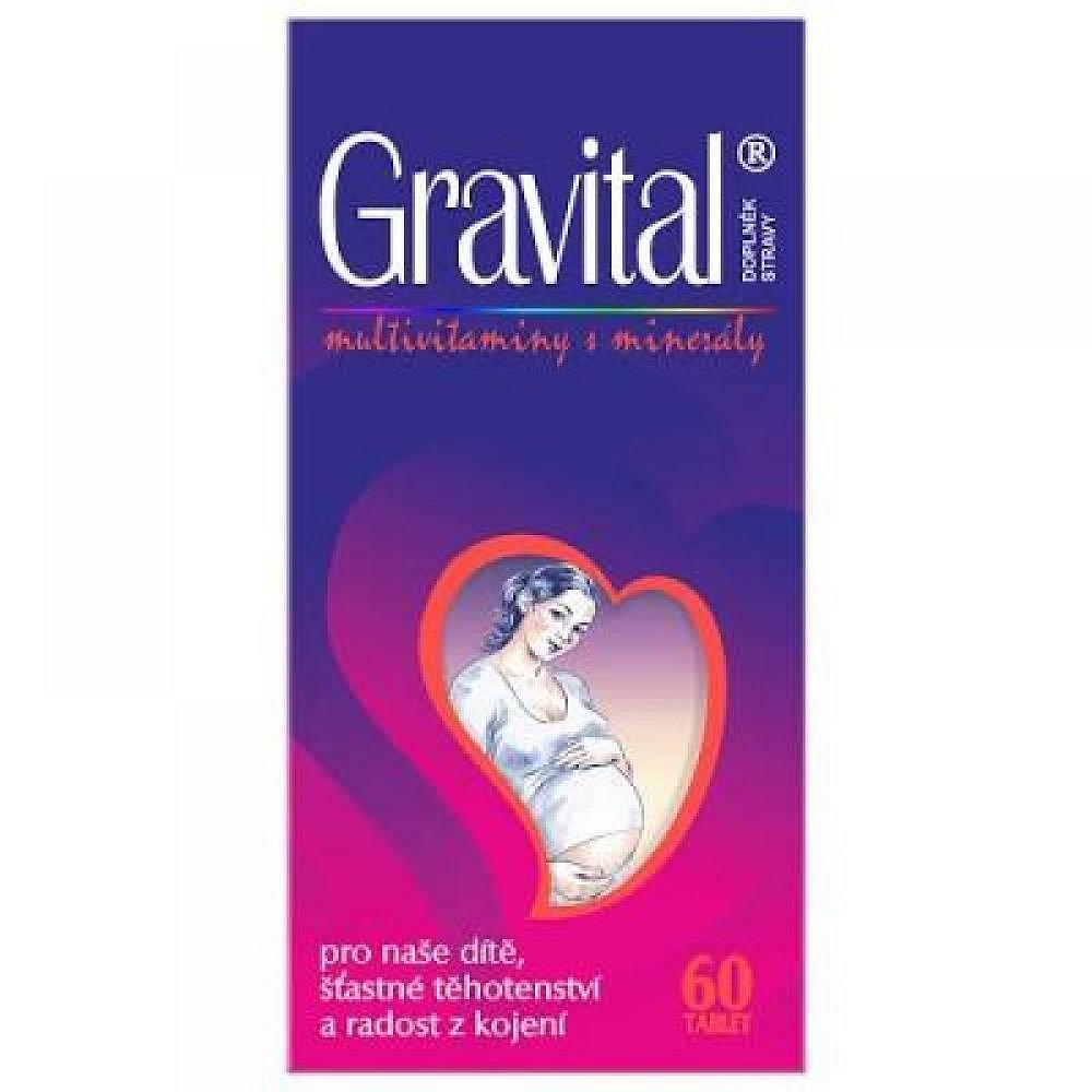 VitaHarmony Gravital pro těhotné a kojící ženy 60 tablet, poškozený obal