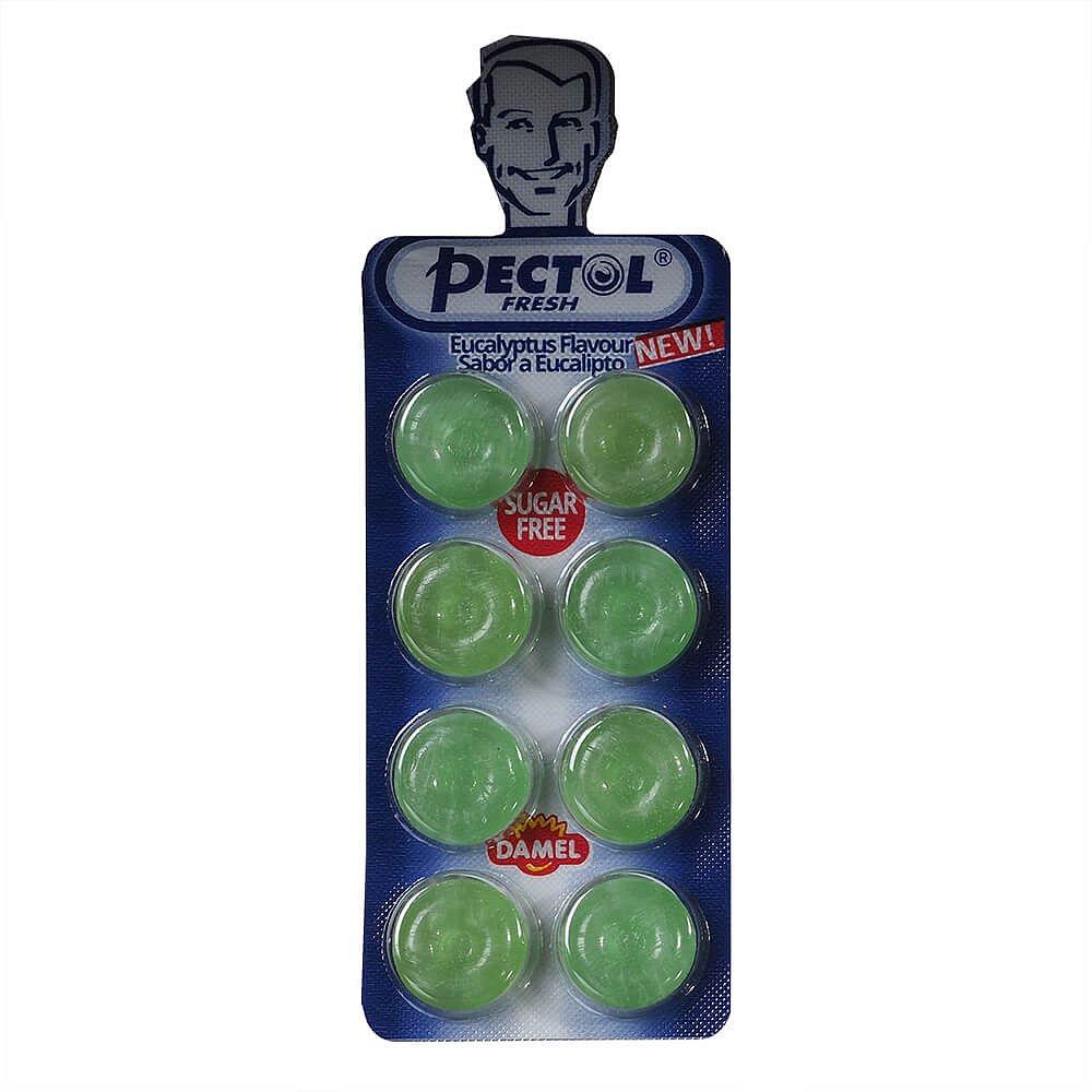 PECTOL Fresh eucalyptový drops v blistru 8 kusů