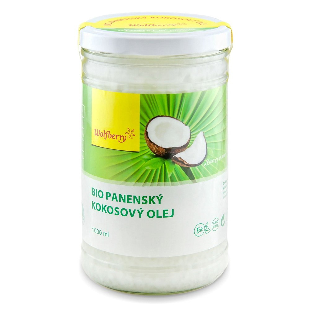 WOLFBERRY Panenský kokosový olej BIO 1000 ml, poškozený obal
