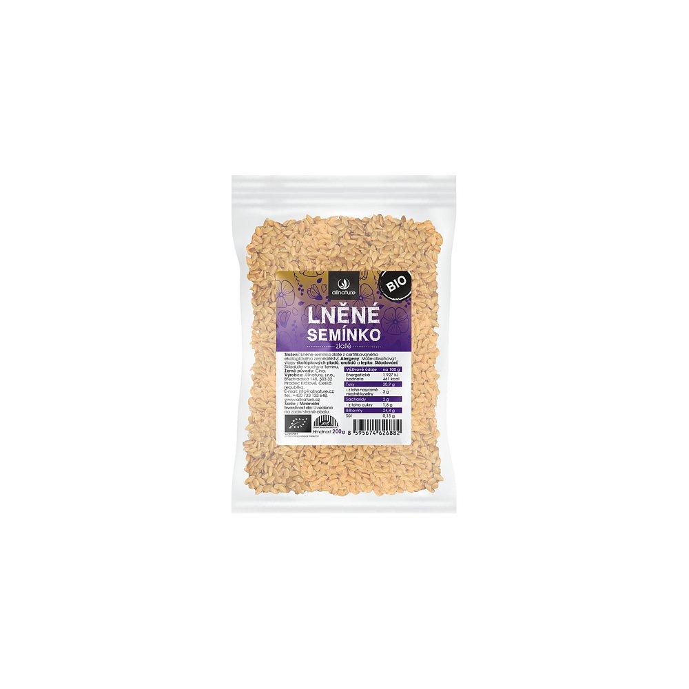 ALLNATURE Lněné semínko zlaté BIO 200 g