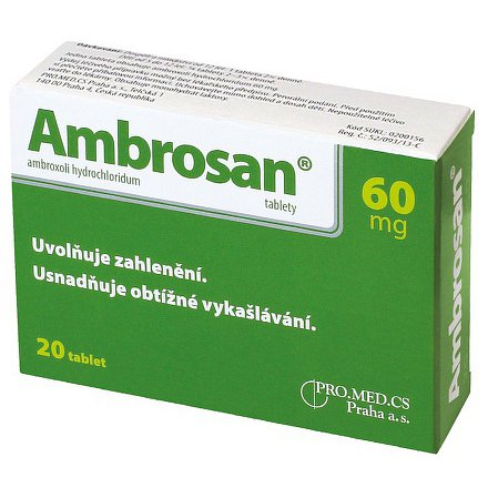 Ambrosan 60mg  tablety 20ks