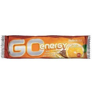 BiotechUSA Go Energy Bar 32x40g Orange-Chocolate