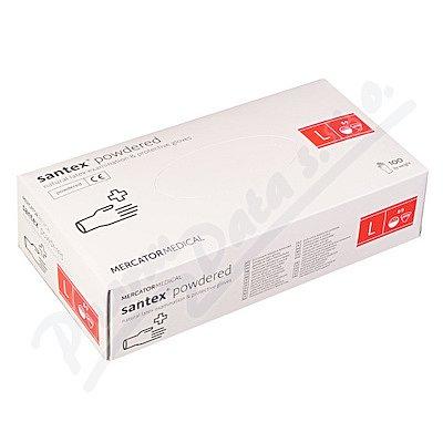 Rukavice latexové Santex powdered L 100ks