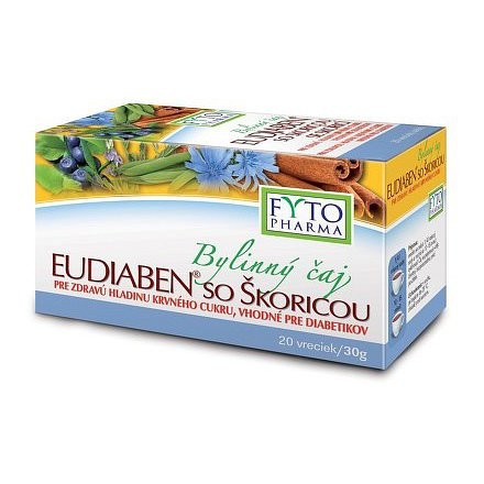 Bylinný čaj se skořicí EUDIABEN 20x1,5g Fytopharma