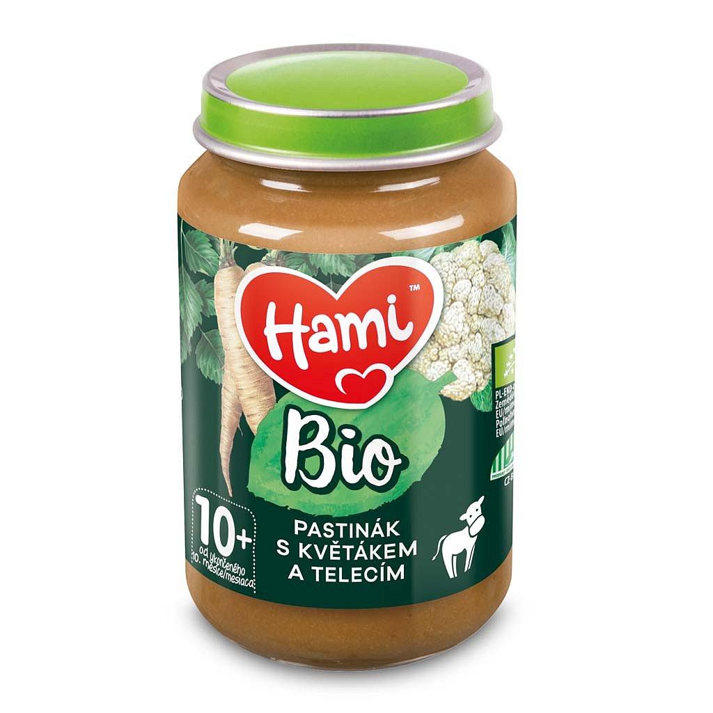 HAMI BIO Masozeleninový příkrm Pastinák s květákem a telecím 190 g, 10+