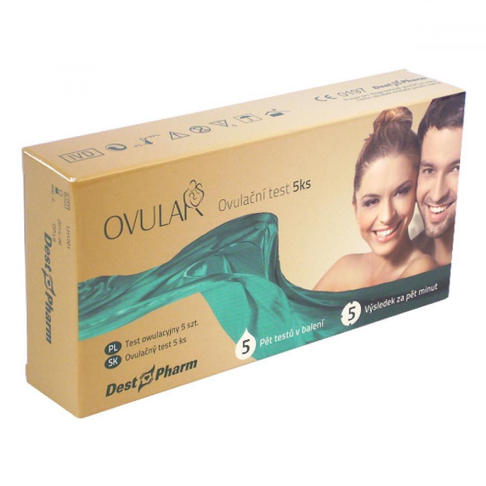 Ovulační test OVULAR 5ks, poškozený obal