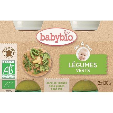 BABYBIO zelená zelenina 2x130g