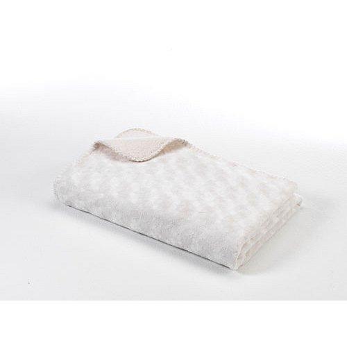 BABYDAN Dětská deka double fleece oboustranná 75x100, off white