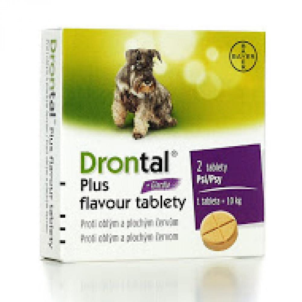 BAYER Drontal Plus Flavour - odčervovací tablety 2ks
