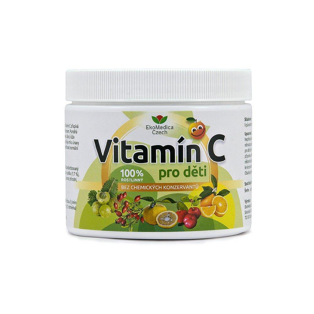 EKOMEDICA Vitamín C pro děti prášek 250 g