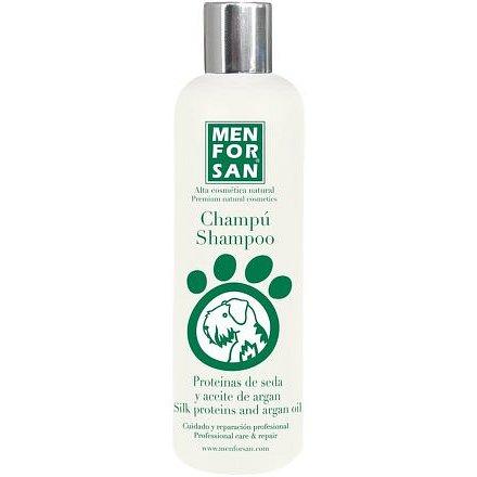 Menforsan Šampon pro psy s hedvábnými proteiny a arganovým olejem 300ml