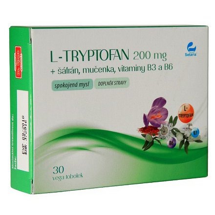 L-TRYPTOFAN 200mg+šafrán+mučenka SETARIA 30tobolek