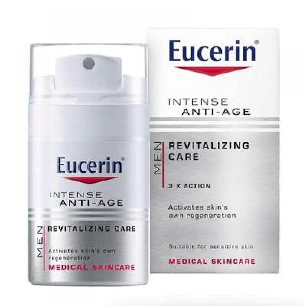 EUCERIN MEN Intenzivní krém proti vráskám INTENSE ANTI–AGE 50 ml, poškozený obal
