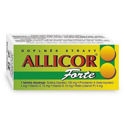 Allicor Forte česnek tablety 60 +C+E+P+BETA