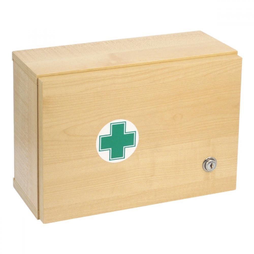 Lékárnička dřevěná s náplní do 5 osob-ZM 05, poškozený obal