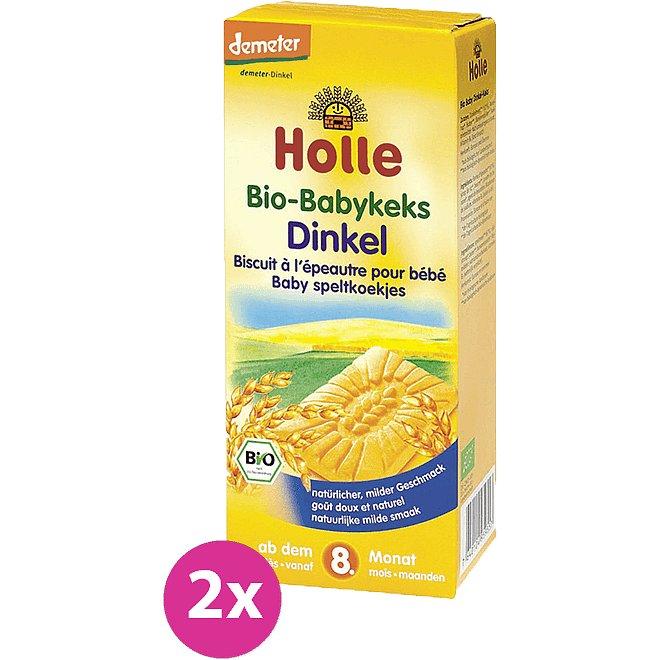 2x HOLLE Bio Dětské špaldové keksy, 150 g
