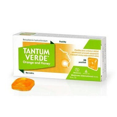 Tantum Verde Orange and Honey orm.pas. 20x3mg