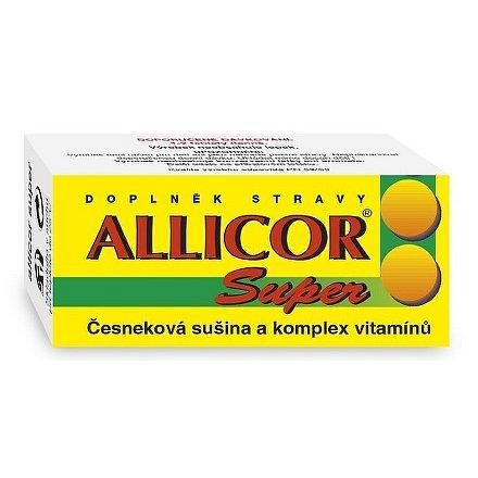 Allicor Super česnek+vitamin.tablety 60