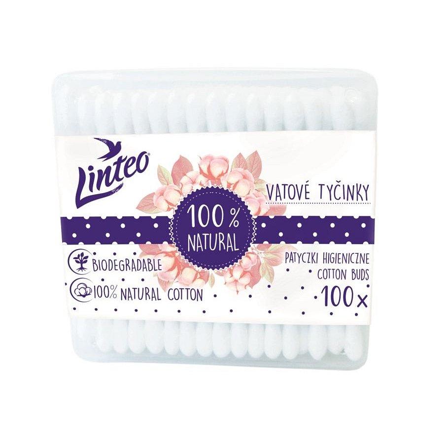 Linteo Papírové vatové tyčinky box 100 ks