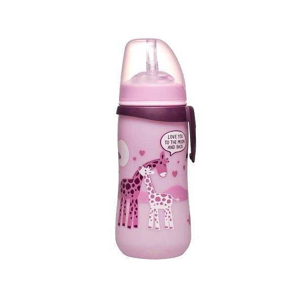 NIP Straw cup láhev s brčkem holka 330ml