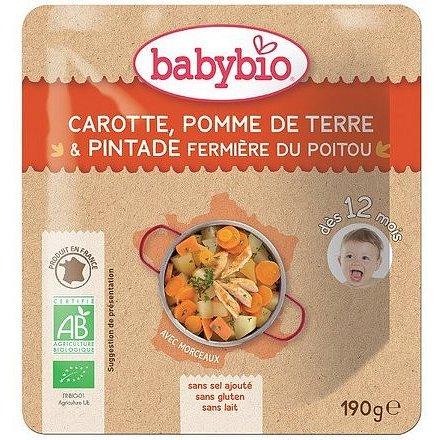 BABYBIO mrkev a brambory s farmářskou perličkou 190g