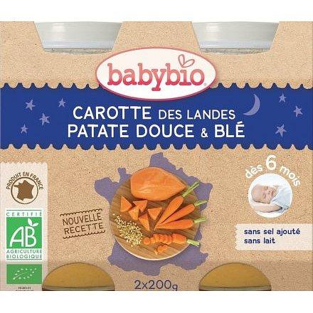 BABYBIO mrkev, sladké brambory a pšenice 2x200g