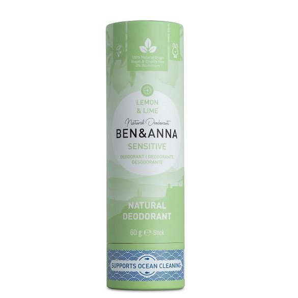 Ben & Anna Tuhý deodorant Sensitive BIO Citrón limeta 60 g