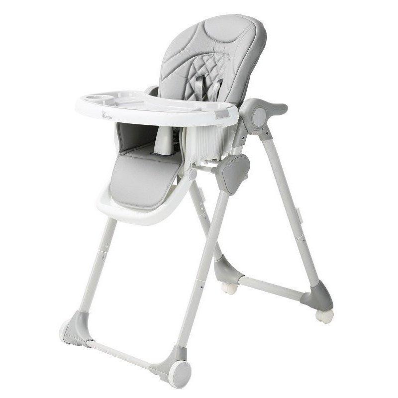 Bo Jungle Jídelní židlička B-Dinner chair wheely šedá