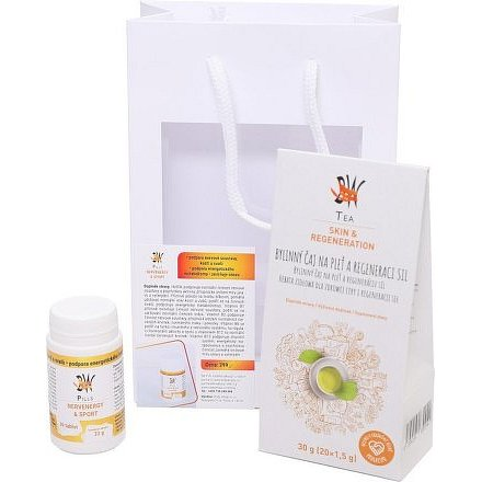 Body Wraps Dárkové balení Tea Skin&Regeneration + Pills NervEnergy&Sport