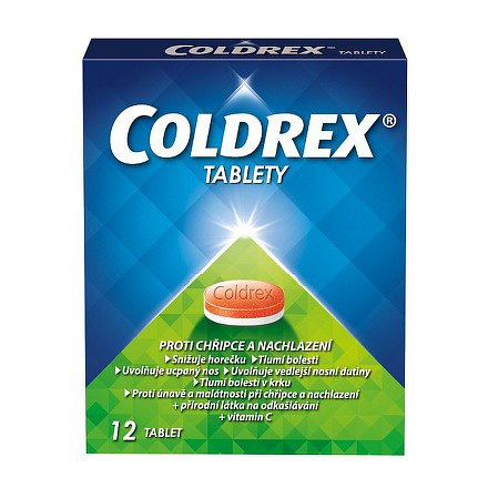 Coldrex perorální tablety neobalená forma přípravku 12