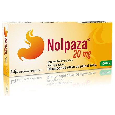 Nolpaza 20 mg perorální tablety Enterosolventní měkká 14 x 20 mg