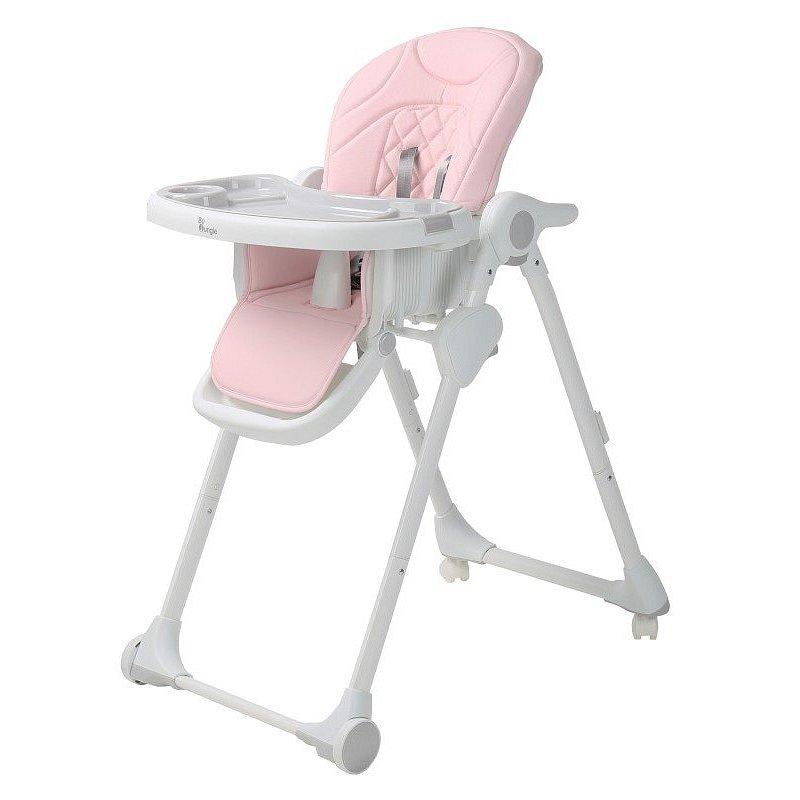 Bo Jungle Jídelní židlička B-Dinner chair wheely růžová