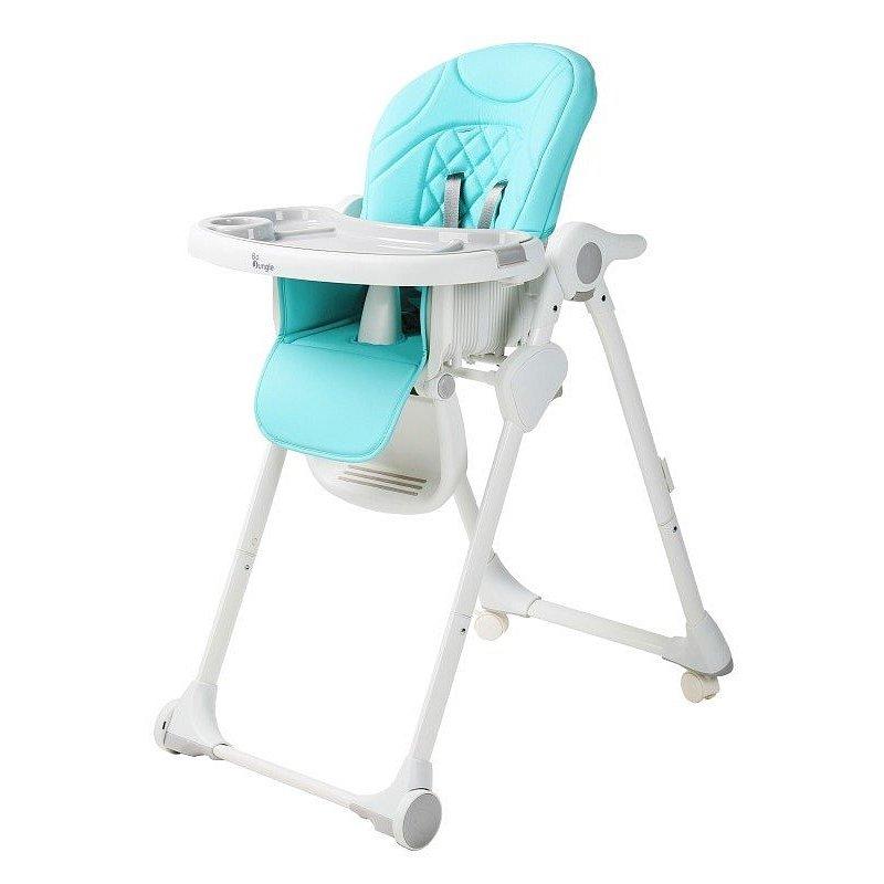 Bo Jungle Jídelní židlička B-Dinner chair wheely modrá