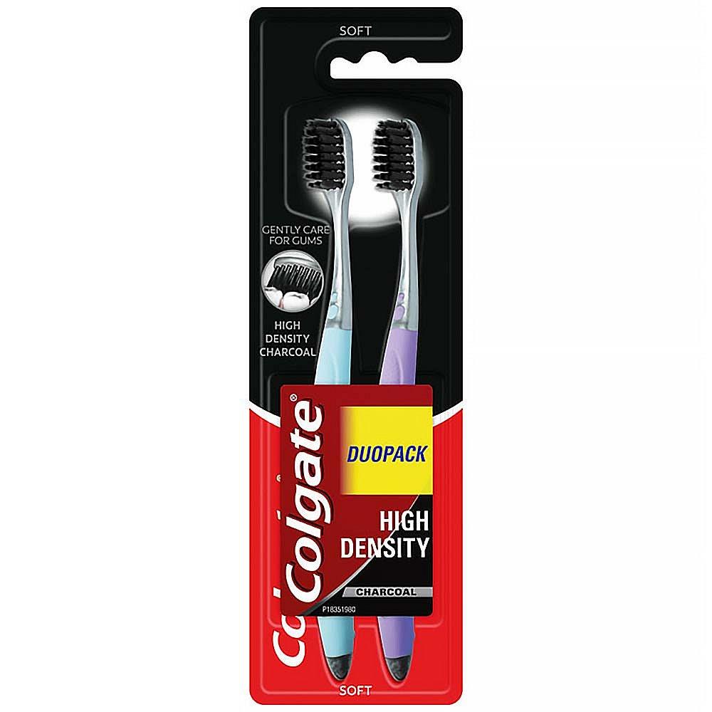 COLGATE High Density Charcoal zubní kartáček 1 + 1