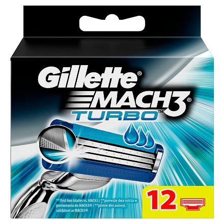 Gillette Mach3 Turbo náhradní hlavice 12ks