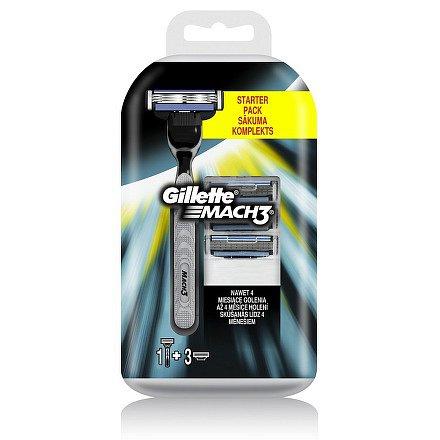 Gillette Mach3 náhradní hlavice 4ks + handle gratis