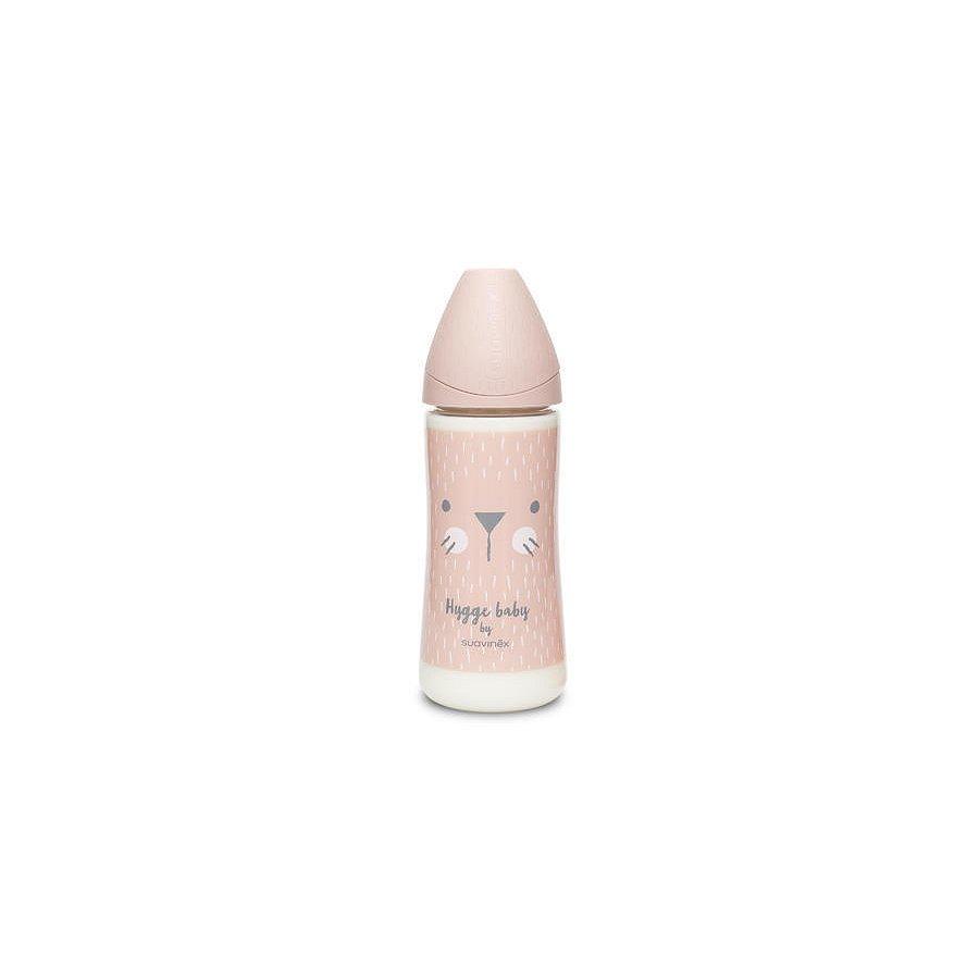 Suavinex Hygge Premium Láhev 360 ml L vousky - růžová