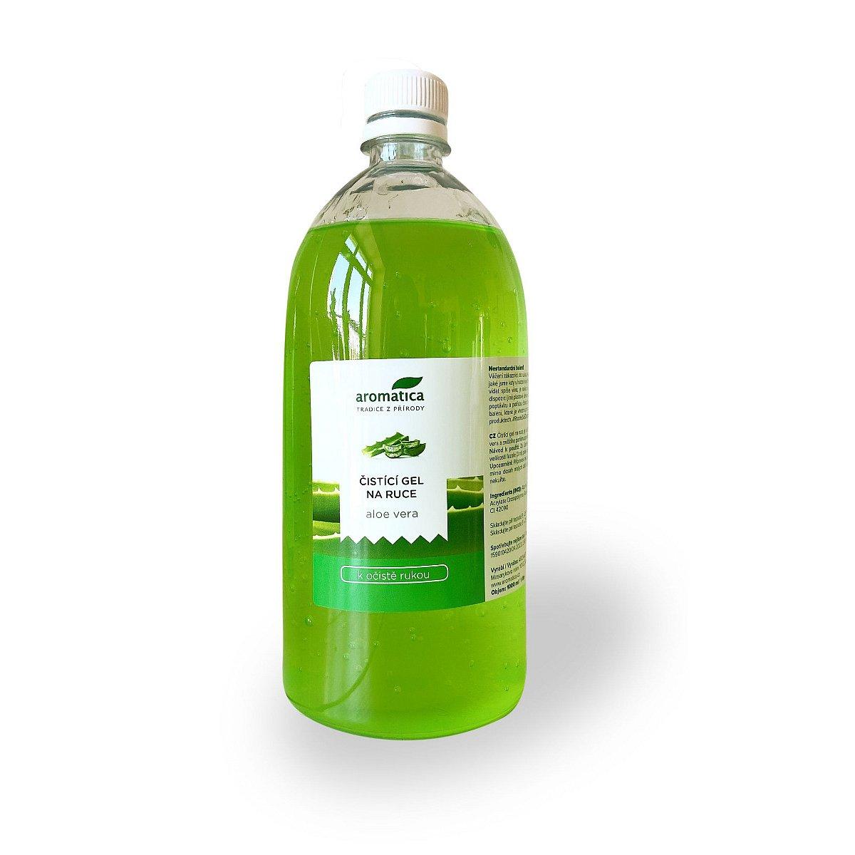 Aromatica Čistící gel na ruce Aloe vera 1000 ml