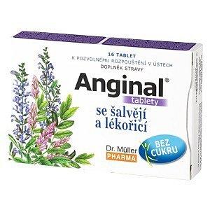 Anginal tablety se šalvějí+lékořicí tablety 16
