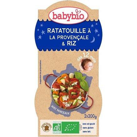 BABYBIO Ratatouille s rýží 2x200g