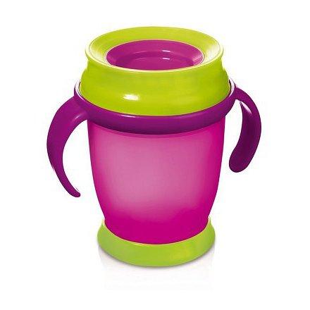 Hrníček LOVI 360 MINI 210ml s úchyty bez BPA růžový