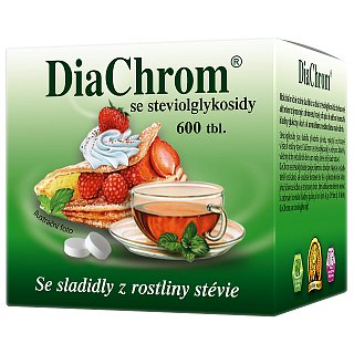 DiaChrom se stévií tablety 600