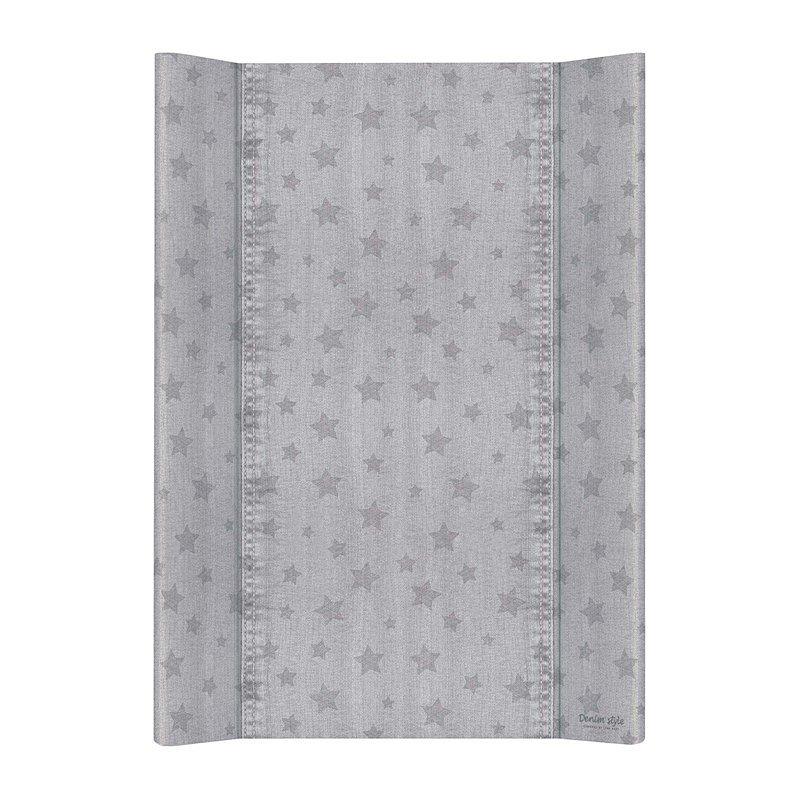 CEBA Podložka přebalovací 2hranná MDF 70 cm Denim Style Stars gray Ceba