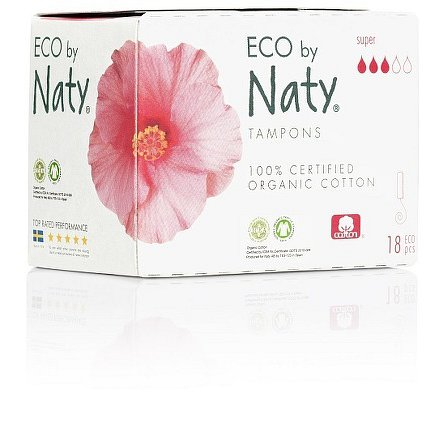 Dámské ECO tampóny Naty (18 ks) - super