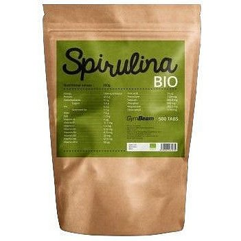 GymBeam Bio Spirulina 500 mg 500 tab unflavored