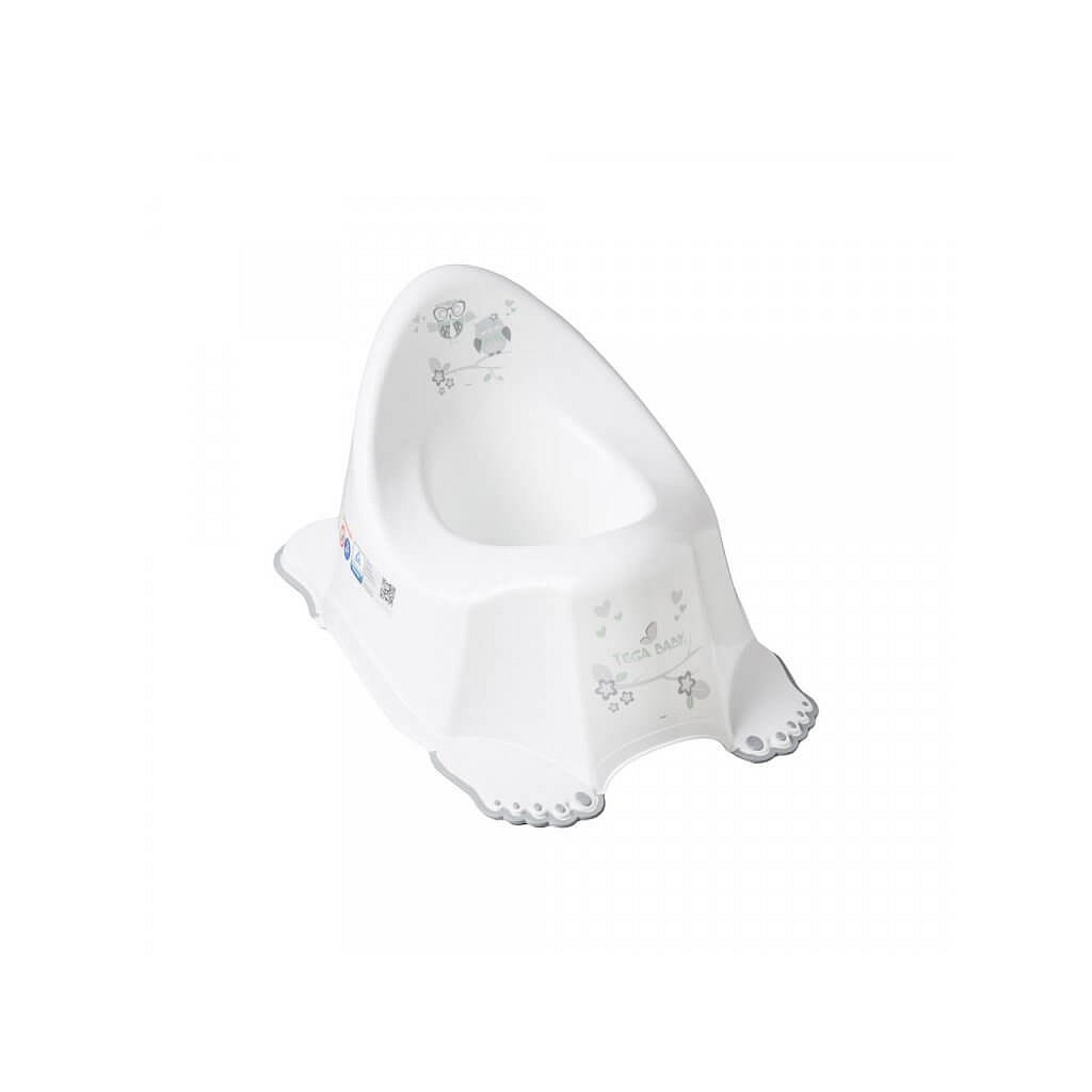 Hrající dětský nočník protiskluzový sova bílý