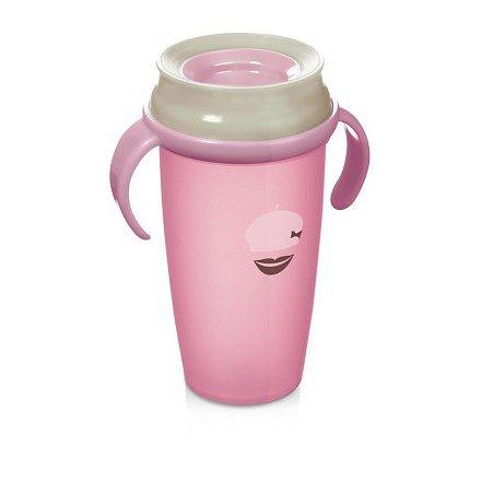 Hrníček LOVI 360 ACTIVE Retro 350ml bez BPA růžový