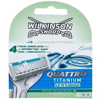 Wilkinson Sword Quattro Titanium Sensitive náhradní břity 4 ks