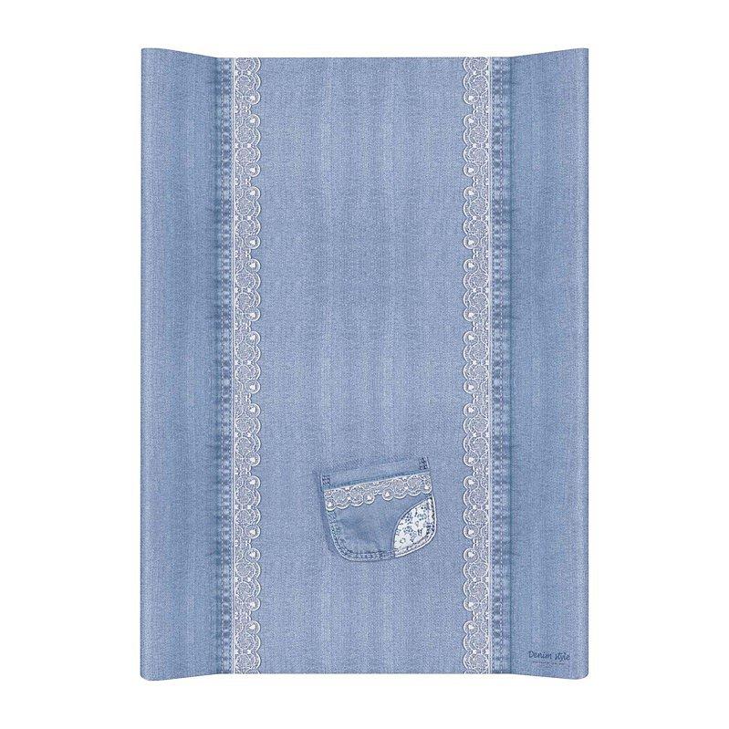 CEBA Podložka přebalovací 2hranná MDF 70 cm Denim Style Lace blue Ceba